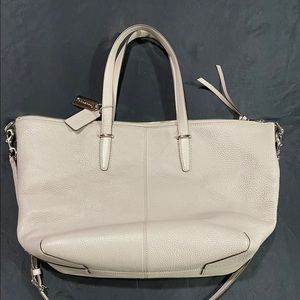 Gray Coach Pebbled Leather Medium Tote